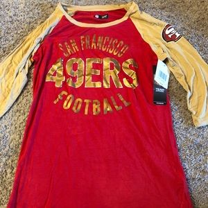 San Francisco 49ers 3/4 sleeve shirt